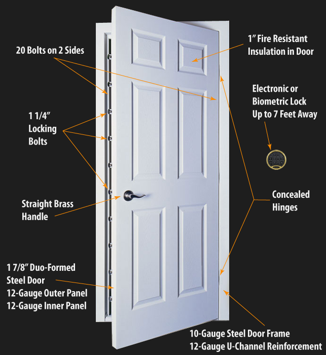 Browning Six Panel Security Door The Safe House