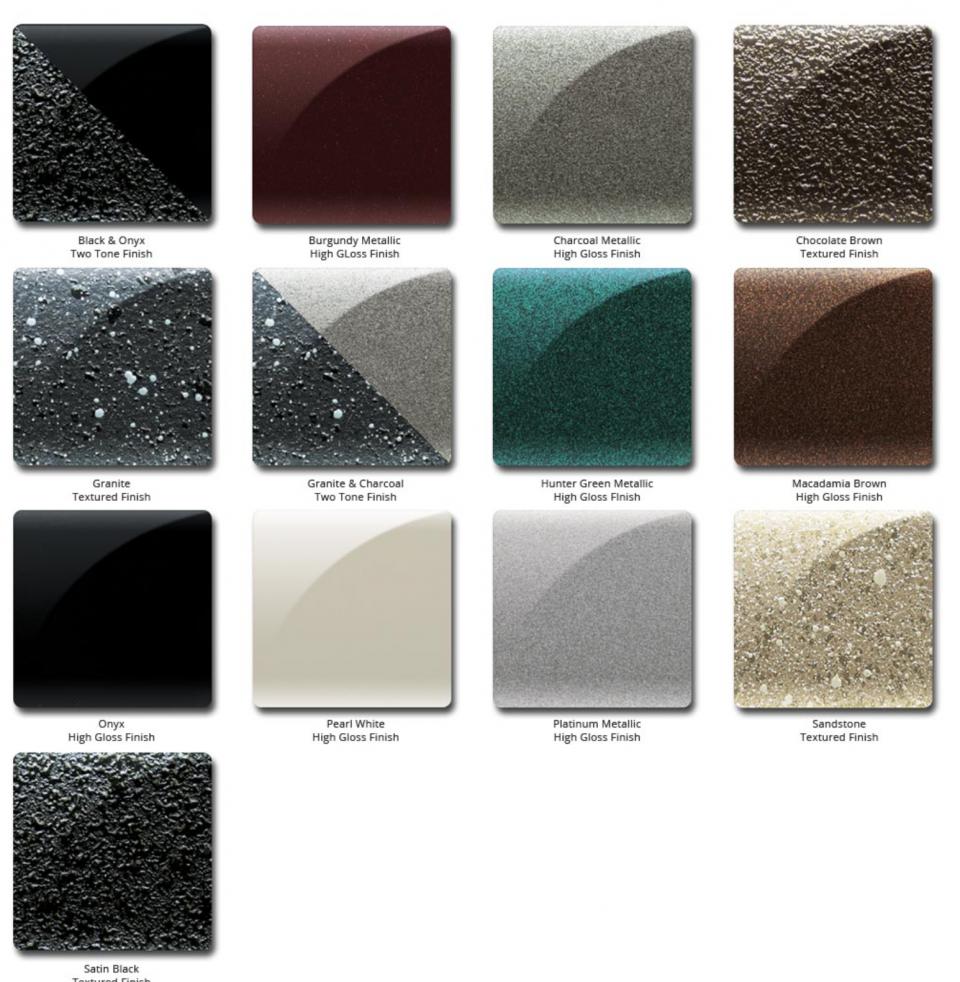 Amsec Color Chart BF Series
