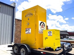 big yellow safe