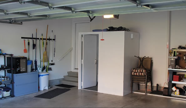 Storm shelters the safe house nashville tn for How to build a safe room in your garage